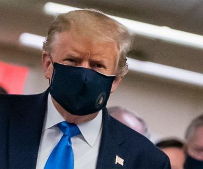 Trump Campaign Scurries To Spin President's Mask Photo Op: 'Rocking A Mask Like A Boss'