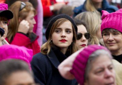 Plenty of celebrities showed up for the women's marches - as demonstrators, not performers