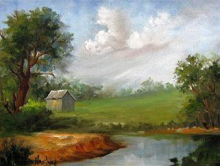 Country Time Barn Landscape, Barbara Haviland