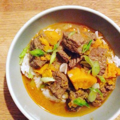 Instant Pot Beef Curry with Sweet Potatoes