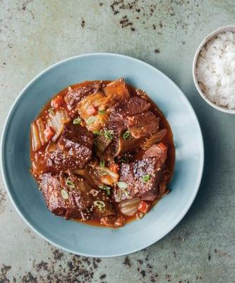 Slow-Cooker Korean Beef and Kimchi Stew