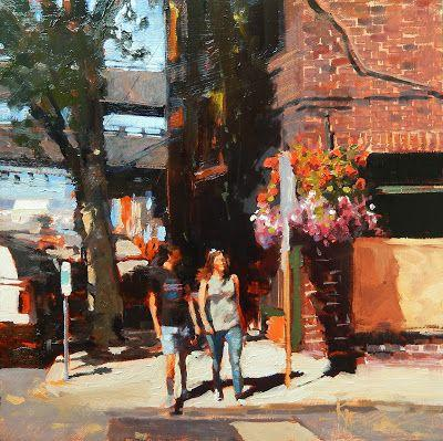"""Curb Appeal"" Seattle city, oil painting by Robin Weiss and upcoming events"