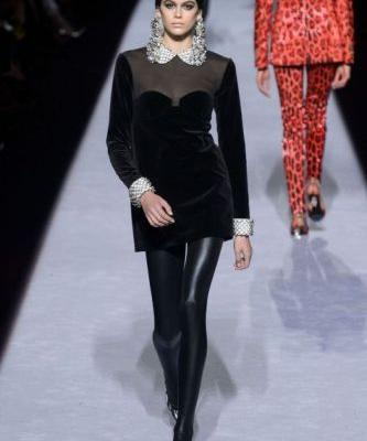 Kaia Gerber Hits The Runway For Tom Ford At NYFWCheck out the