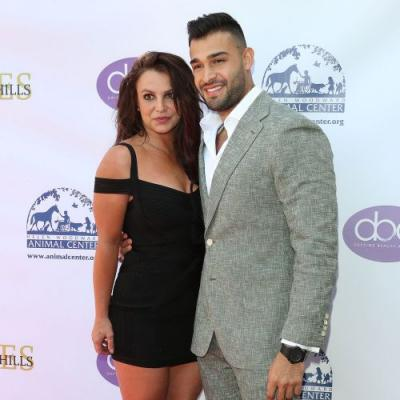 Britney Spears Shows Support to Boyfriend Sam Asghari at the Daytime Beauty Awards