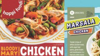 50 tons of frozen chicken products recalled for failure to list eggs on label