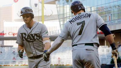 Longoria, Morrison homer in 15th as Rays top Twins in 6-hour game