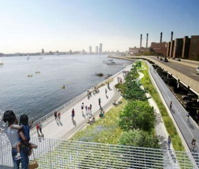 New York City to Combat Rising Sea Levels by Extending the Manhattan Coastline