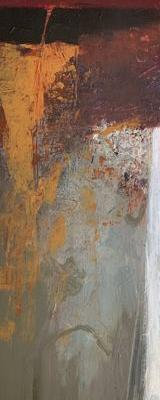 """Vertical Art, Contemporary Abstract Painting """"Growing Upward"""" by Intuitive Artist Joan Fullerton"""