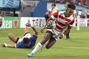 Host Japan beats Russia 30-10 in Rugby World Cup opener