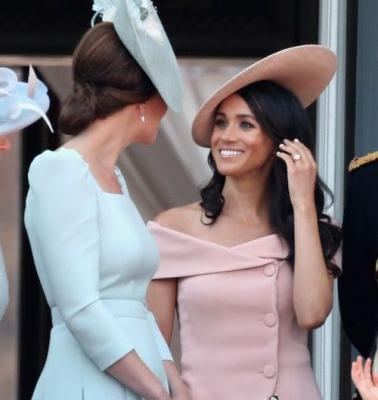 Meghan Markle & Kate Middleton's Body Language At The Queen's Birthday Parade Is So Sweet