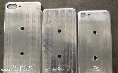 Alleged iPhone Molds Compare iPhone 8 Against 7s, 7s Plus Models