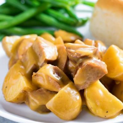 Crockpot Sausage and Potatoes