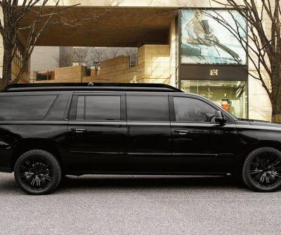 This $500,000, bulletproof Cadillac Escalade looks like a private jet on the inside - take a closer look at the 'Sky Captain'