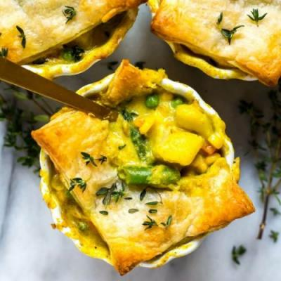 Mini Chicken Curry Pot Pies