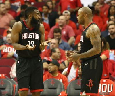 Rockets coach Mike D'Antoni jokes James Harden has to score 55 to beat Warriors in Game 2