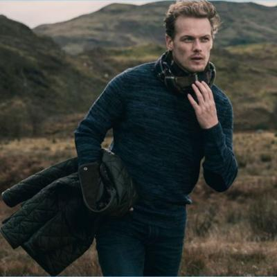 Sam Heughan Dons Limited Edition Barbour Collaboration