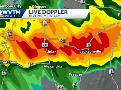 'Extensive damage' reported at Jacksonville State University as possible tornado storms through Alabama