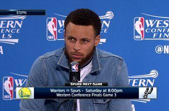 Stephen Curry on Warriors Game 2 win over San Antonio