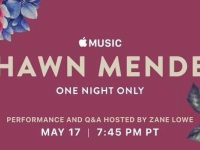 Apple Music Hosting Shawn Mendes Concert in Los Angeles on Thursday