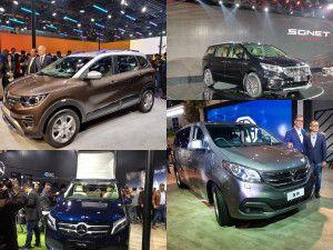 MPVs From Auto Expo 2020 Kia Carnival Renault Triber AMT MG 360M MG Vision I Mercedes-Benz V-Class Marco Polo Haima 7X