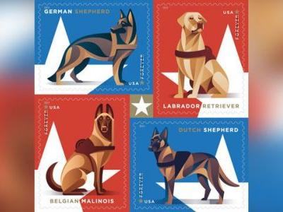 Postal Service honors 'brave and loyal' working military dogs with new Forever Stamps