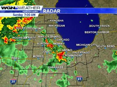 Severe Thunderstorm Warning for portions of Will, DuPage and Cook Counties until 8AM CDT