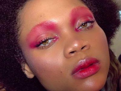 Stained Glass and Bloody Noses Inspired the Makeup at Rihanna's Savage x Fenty Show