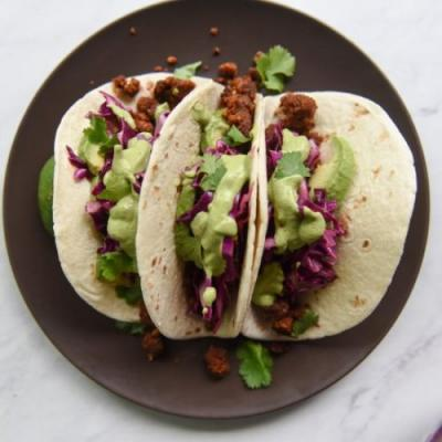 Walnut Tacos with a Simple Slaw