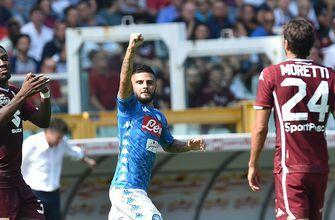 Insigne scores twice as Napoli beats Torino 3-1 in Serie A