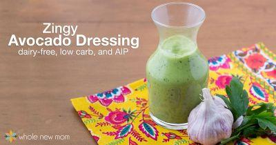 Zingy Avocado Dressing - dairy-free, low carb and AIP