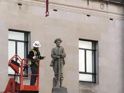 Confederate statue being removed in North Carolina city