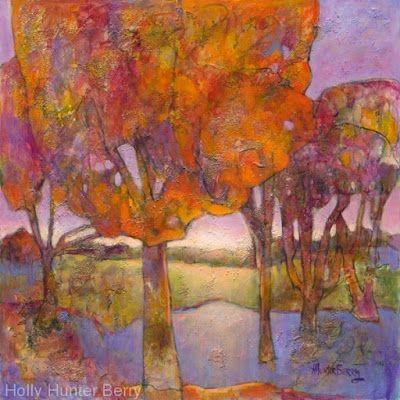 "Contemporary Abstract Landscape, Fine Art PRINT ""That Perfect Day"" by Passionate Purposeful Painter Holly Hunter Berry"