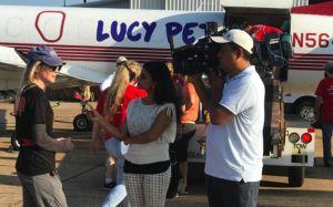 Renee Zellweger, Lucy Pet Foundation + More Fly Harvey Dogs to Safety