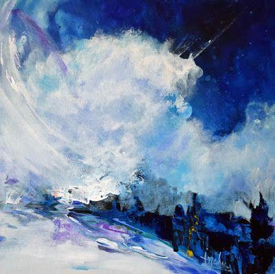 """Contemporary Abstract Seascape Painting """"Expanded Time"""" by International Abstract Realism Artist Arrachme"""