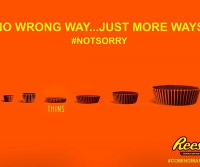 Hershey released the first photo of its controversial new Reese's Cup that is 40% thinner, and it's already being forced to defend itself from critics' attacks