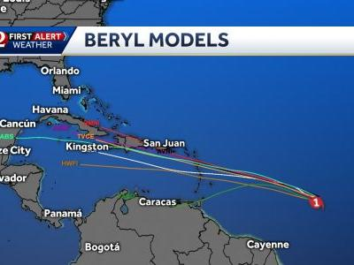Beryl becomes first hurricane of the Atlantic season