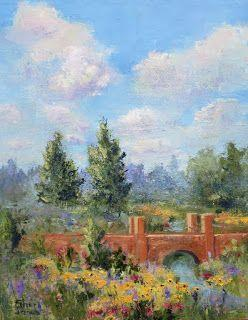 Garden Party, New Contemporary Landscape Painting by Sheri Jones