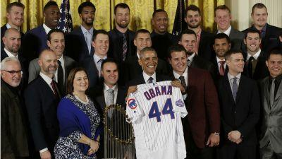 Cubs' White House visit first championship celebration attended by First Lady