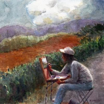Watercolor: Painting in the Canyon (& gift ideas for artists who paint outdoors/travel )