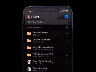 OneDrive picks up dark mode with iOS 13, rest of Office suite to follow