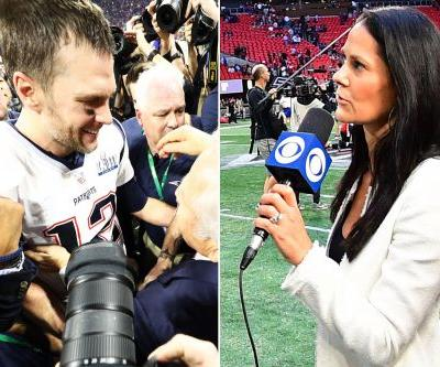 Tracy Wolfson fought way to Tom Brady, was real star of CBS' Super Bowl
