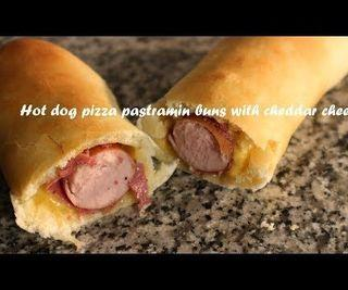 Hot Dog Pizza Pastrami Buns With Cheddar Cheese Recipe