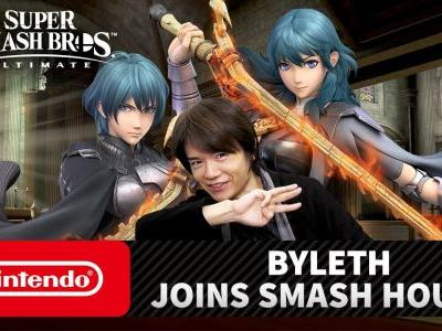 PR - Byleth From the Fire Emblem Series Joins the Roster of Super Smash Bros. Ultimate