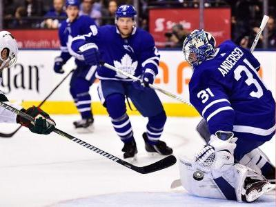 Frederik Andersen comes up big as Maple Leafs down Wild