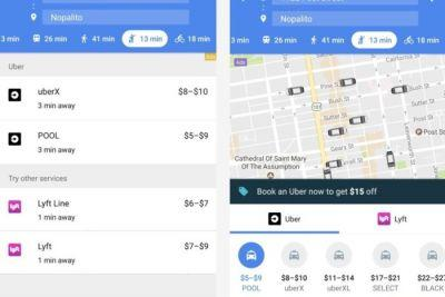 Now you can summon an Uber ride without leaving Google Maps