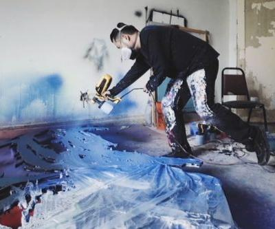 """Meguru Yamaguchi Shows off New Spray-Painting Technique For """"Shadow Pieces"""""""