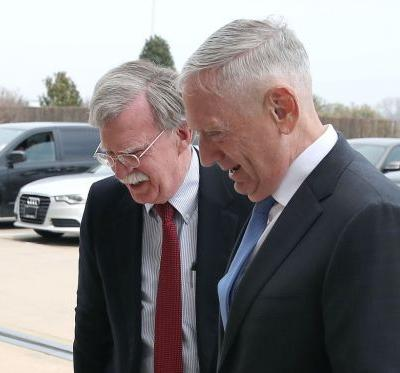 Pentagon chief Mattis jokingly welcomes 'the devil incarnate' Bolton