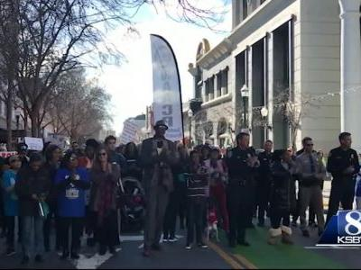 NAACP and Santa Cruz police cohost Martin Luther King Jr. march