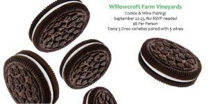 Sept 22-23: Wine and Oreo Cookie Pairing!