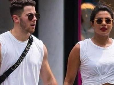 Priyanka Chopra and Nick Jonas twinning in white is just what summers are all about
